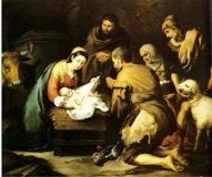 Nacimiento, adoración de los pastores
